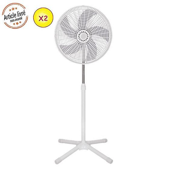 ventilateur ilux lxf 1805 16 50 w 5 h lices 3 vitesses blanc